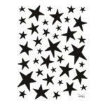Little Black Stars Sticker 18X24Cm Dreamy Lilipinso Zwart Groot Klein Ster Lili-S1151