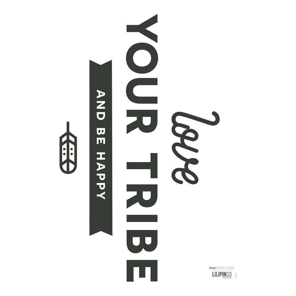 Love Your Tribe Sticker 18X24Cm | Wild West | Lilipinso