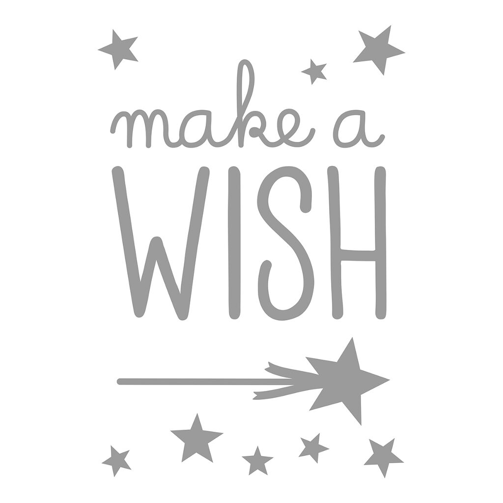 Make A Wish Sticker 18X24Cm Inspiring Words Lilipinso Doe Een Wens Ster Pijl Lili-S1105