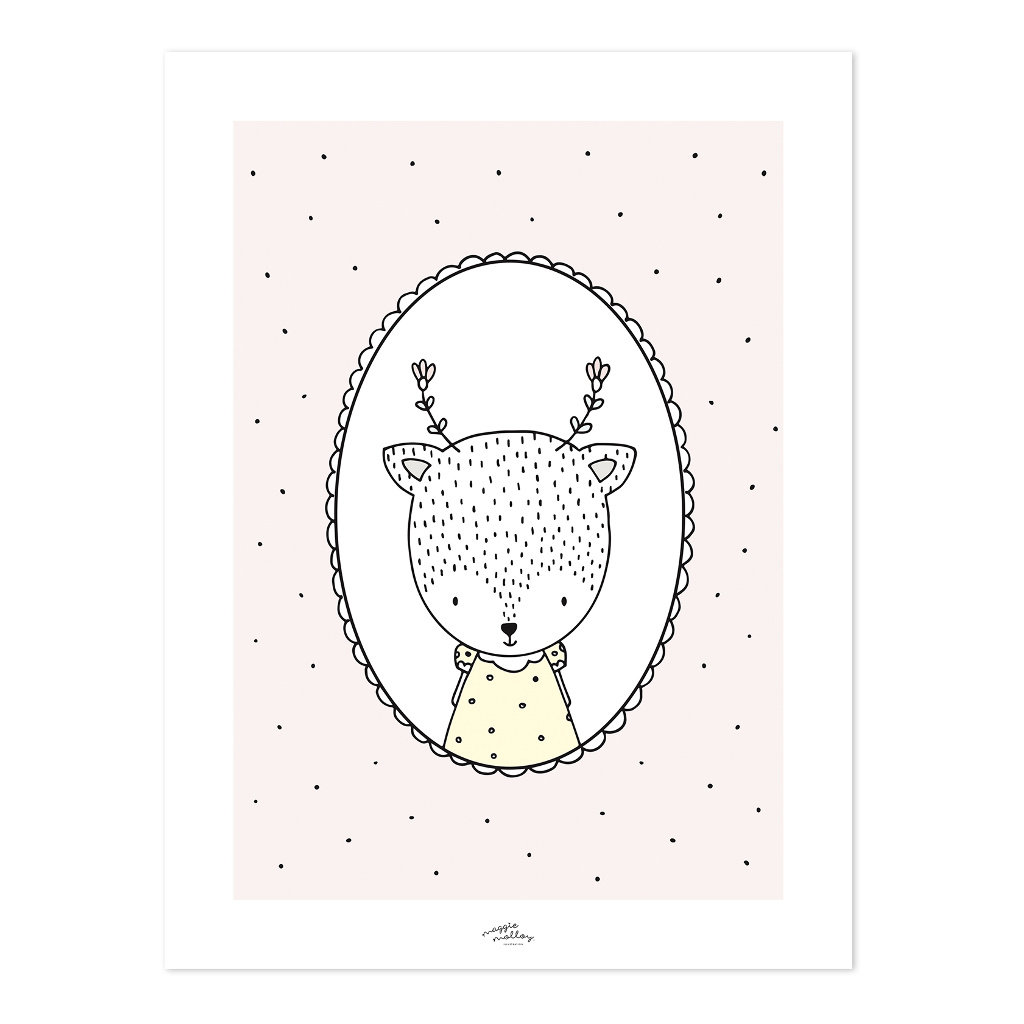Margaret The Deer Poster | Retro Bubble | Lilipinso