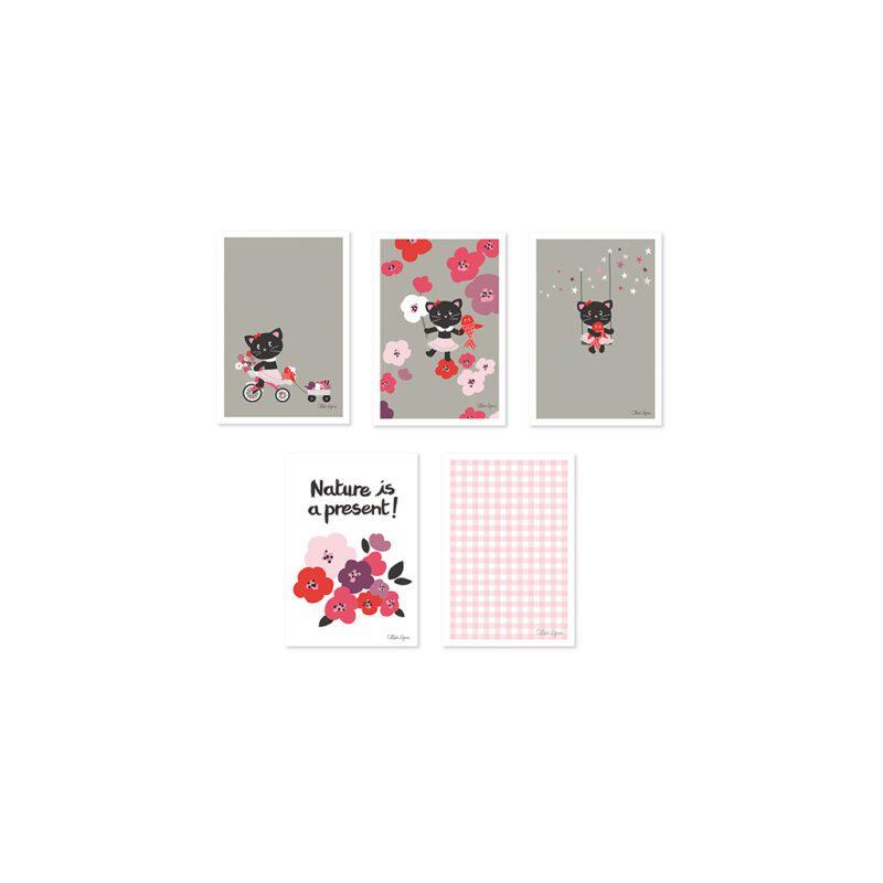 Milly & Flore Ansichtkaart Set Lilipinso 5 Kaartenlili-p0127