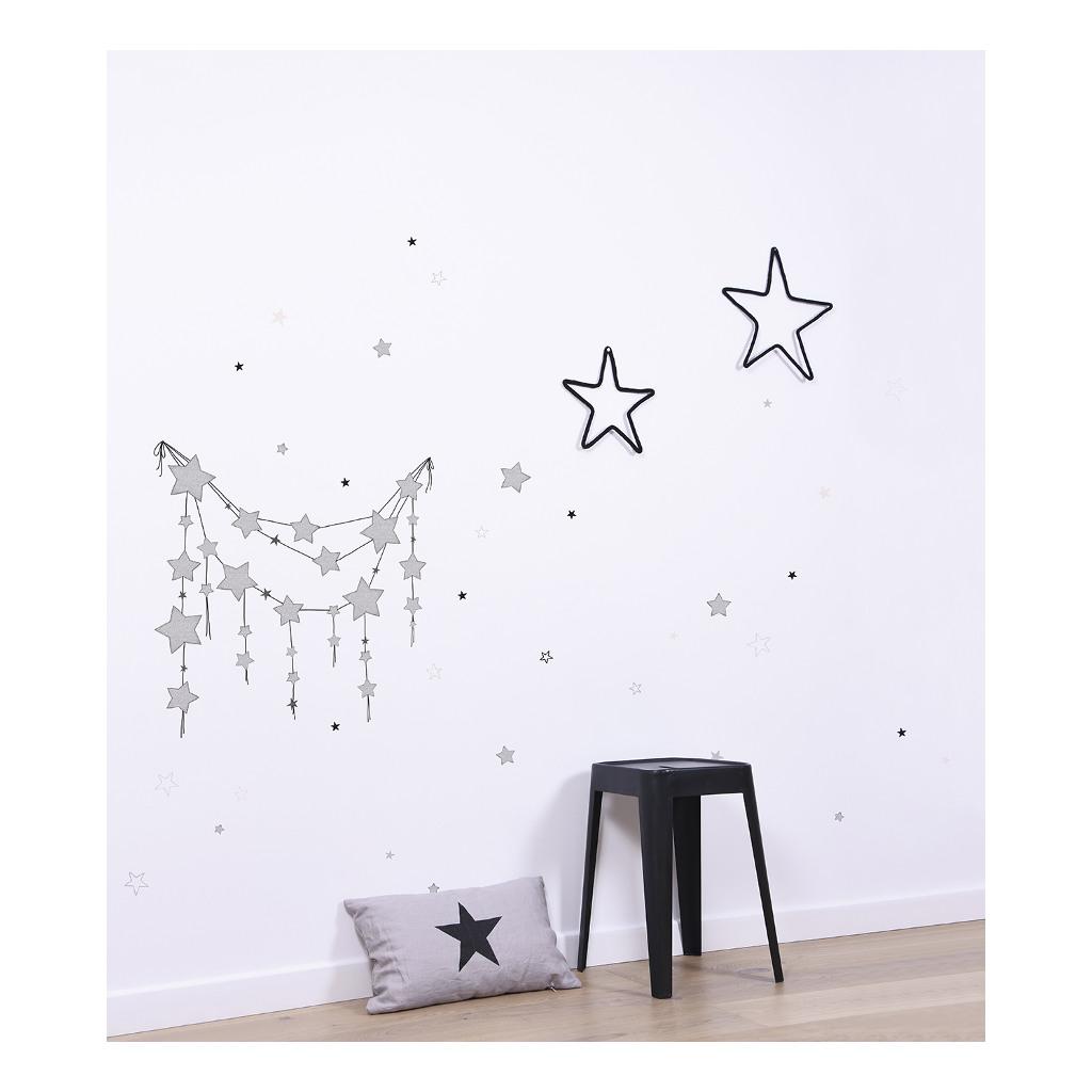 Mix Of Black White Gold Stars Muursticker A3 Dreamy Lilipinso Muursticker Lili-S1154