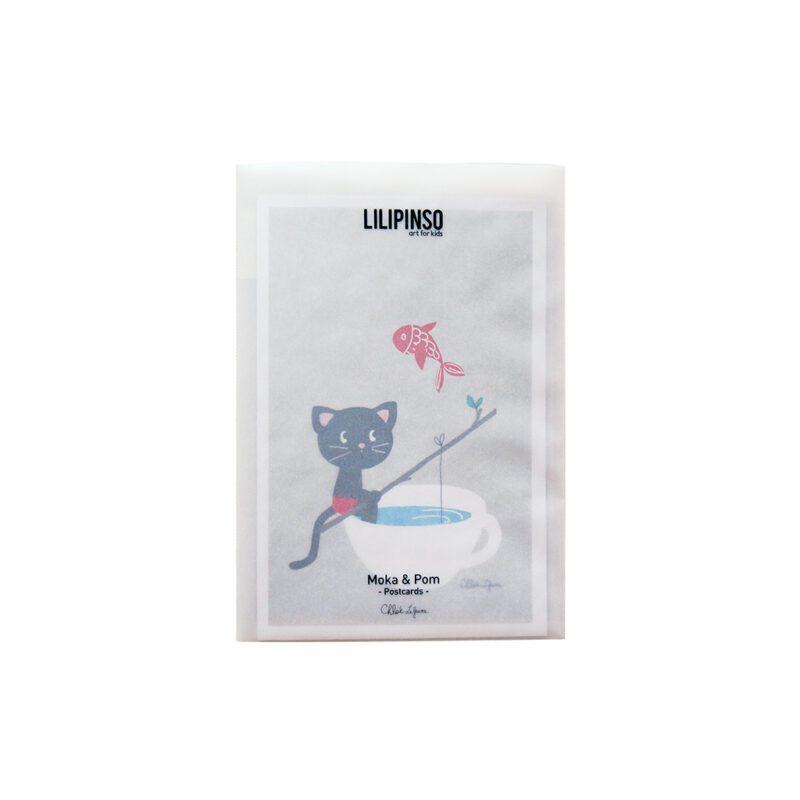 Moka & Pom Ansichtkaart Set Lilipinso5 Verschillende Kaarten Versturen Decoratie lili-p0122