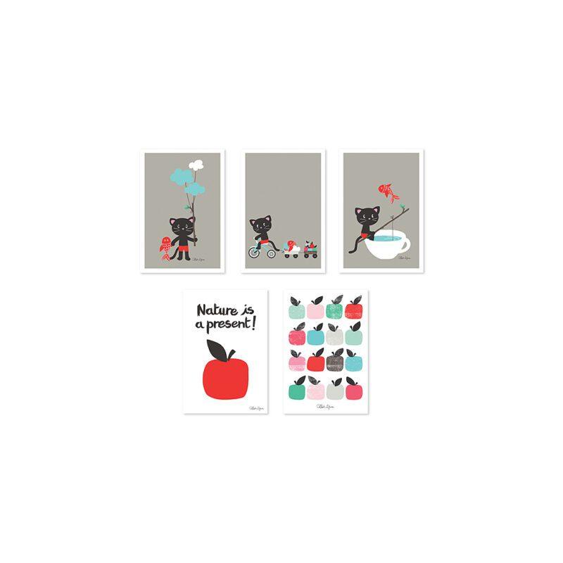 Moka & Pom Ansichtkaart Set Lilipinsolili-p0122