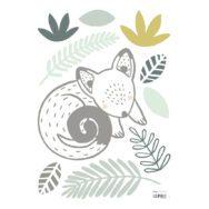 Opossum & Leaves Muursticker A3 | Australia | Lilipinso
