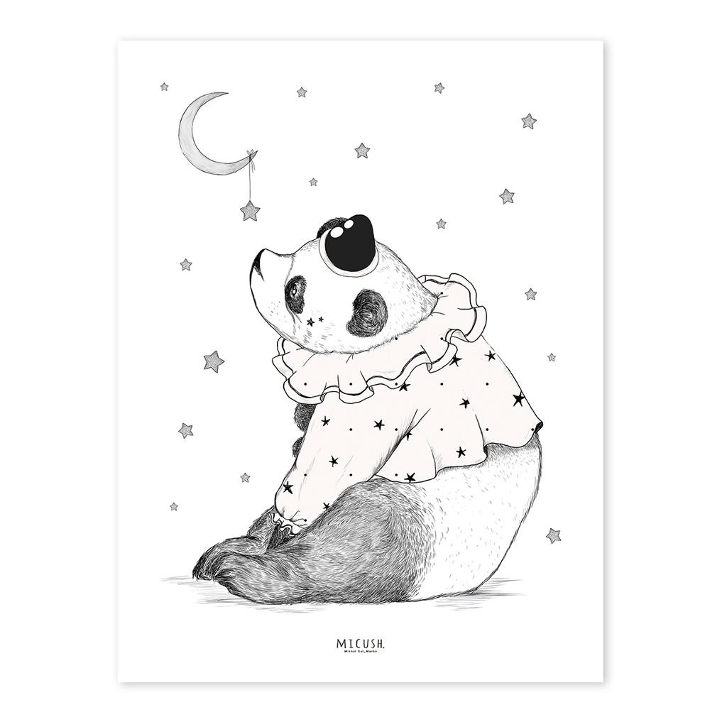 Panda Poster Dreamy Lilipinso Lijst Schilderij Zwart QIDDIE.com P0210c lili-p0210-zl