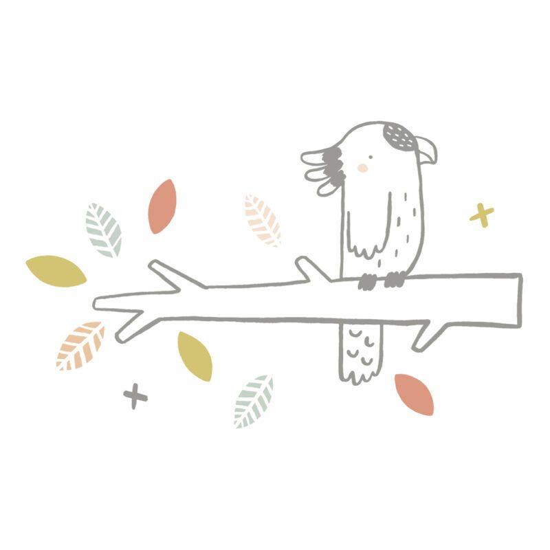 Parrot On Branches Sticker Xl   Australia   Lilipinso