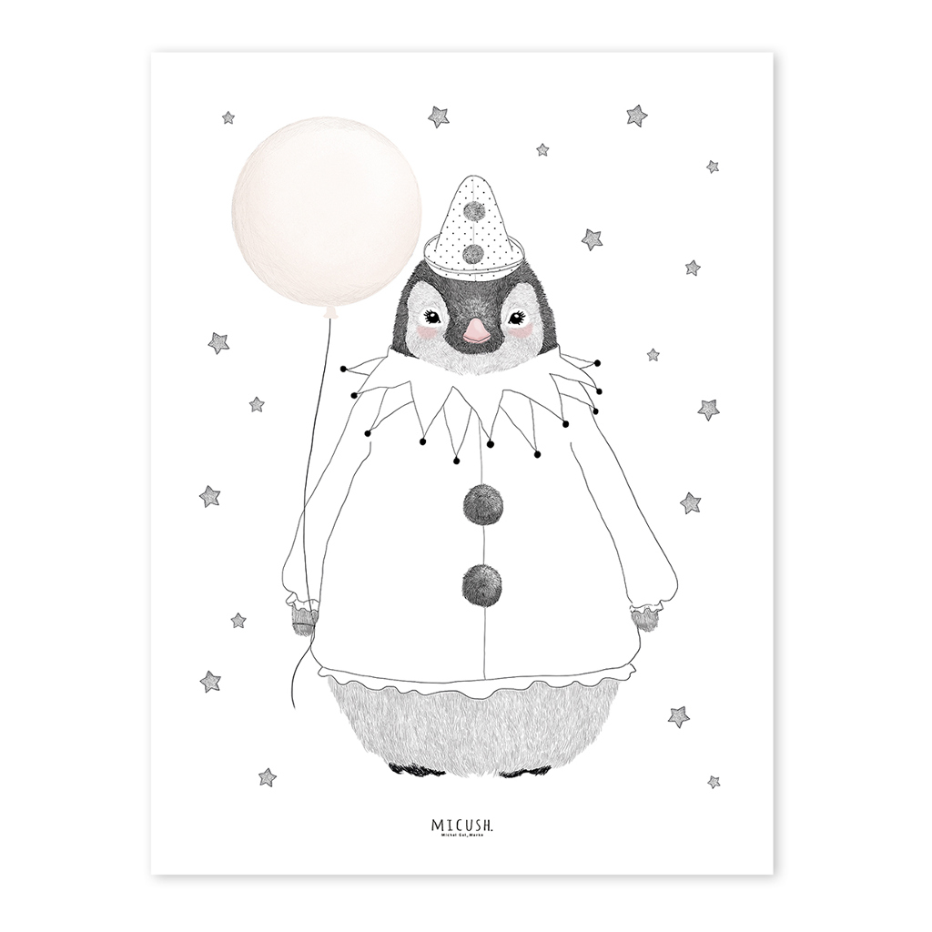 Penguin Poster Dreamy Lilipinso QIDDIE.com Schilderij Lijst lili-P0211c lili-p0211-zl
