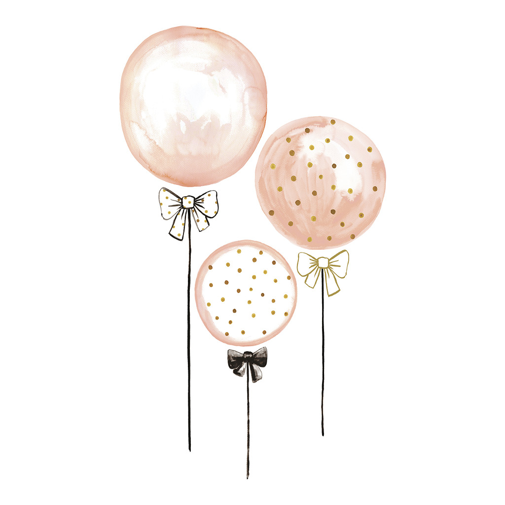 Pink Balloons With Gold Dots Sticker Xl Flamingo Lilipinso 3 Balonnen Lili-S1044