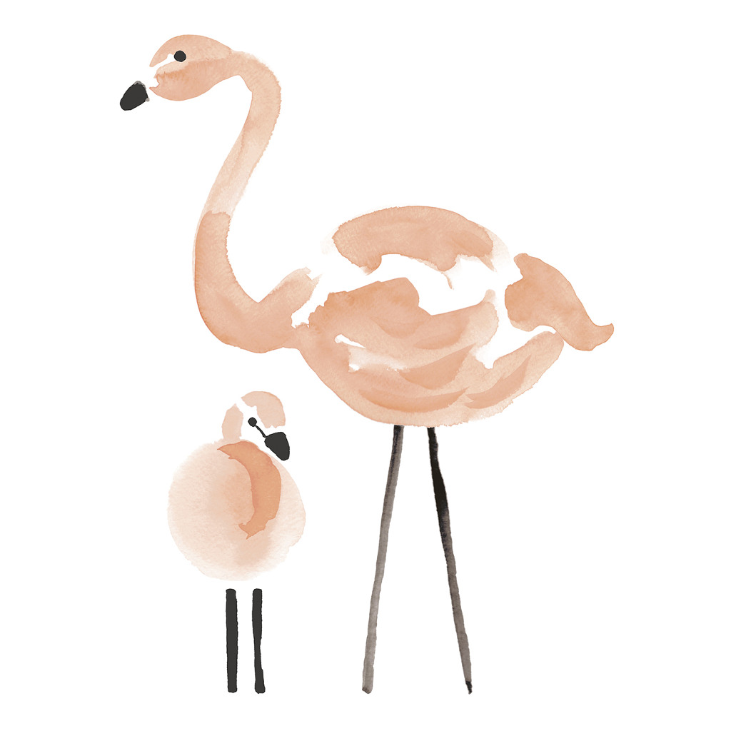 Pink Flamingos Sticker Xl Lilipinso Groot Vogel Roze Lili-S1043