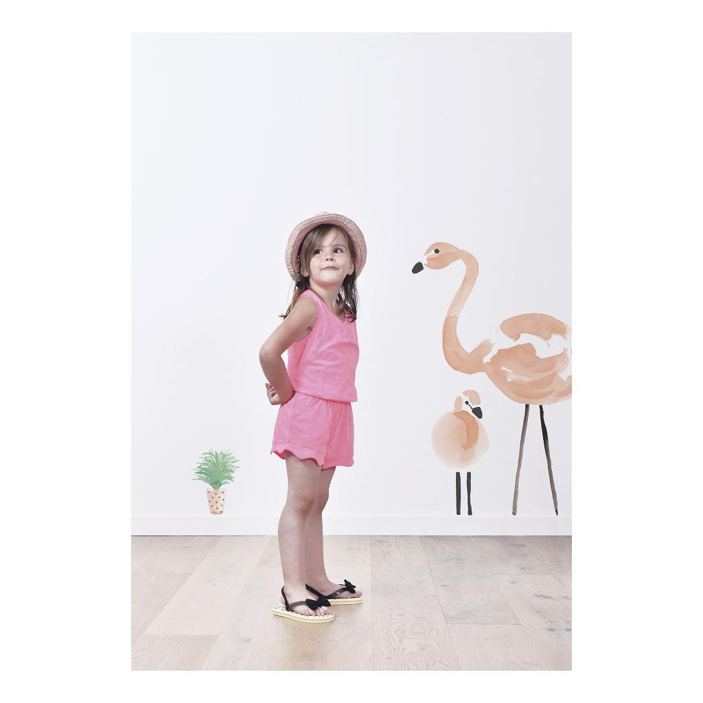 Pink Flamingos Sticker Xl Lilipinso Muursticker Lili-S1043