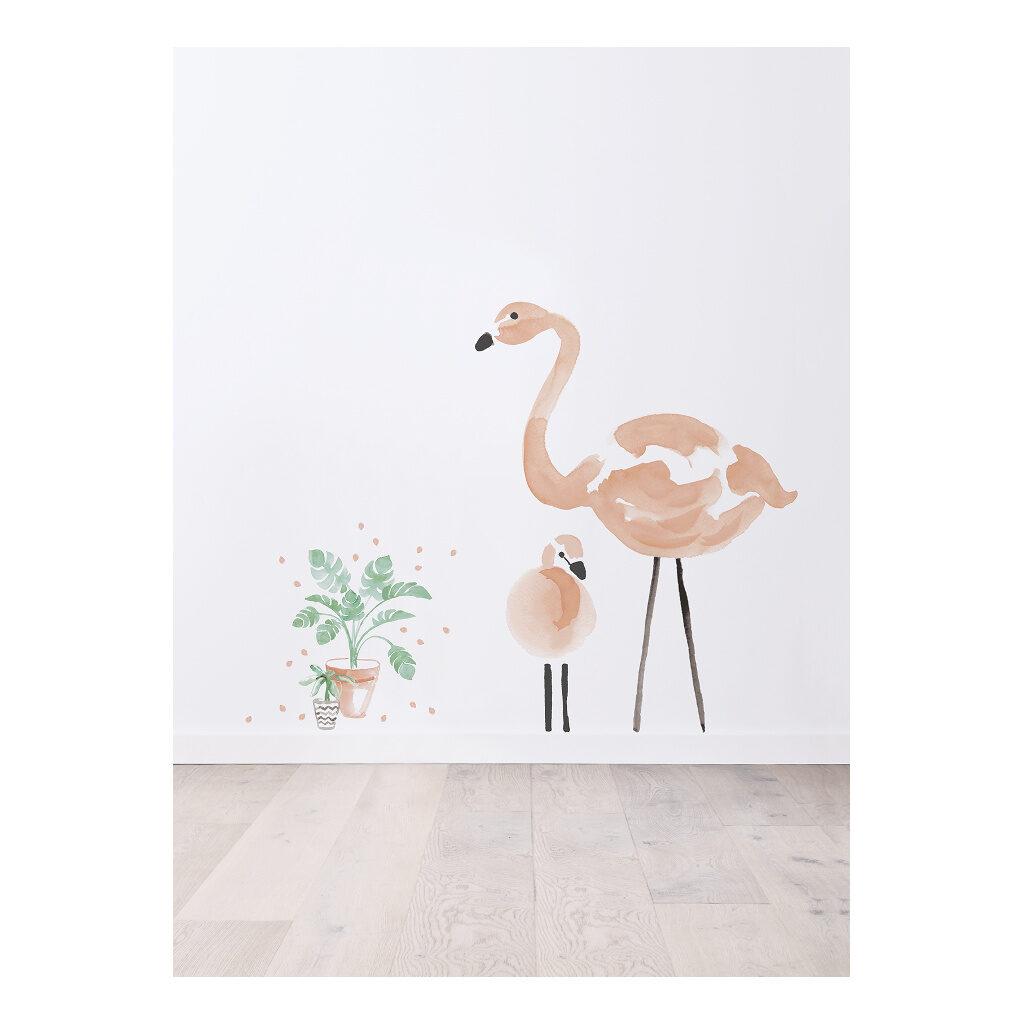 Pink Flamingos Sticker Xl Lilipinso Roze Grote En Kleine Vogel Lili-S1043