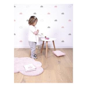 Pink & Grey Clouds Muursticker A3 Happy Clouds Lilipinso Pastel Wolk Lili-S1004