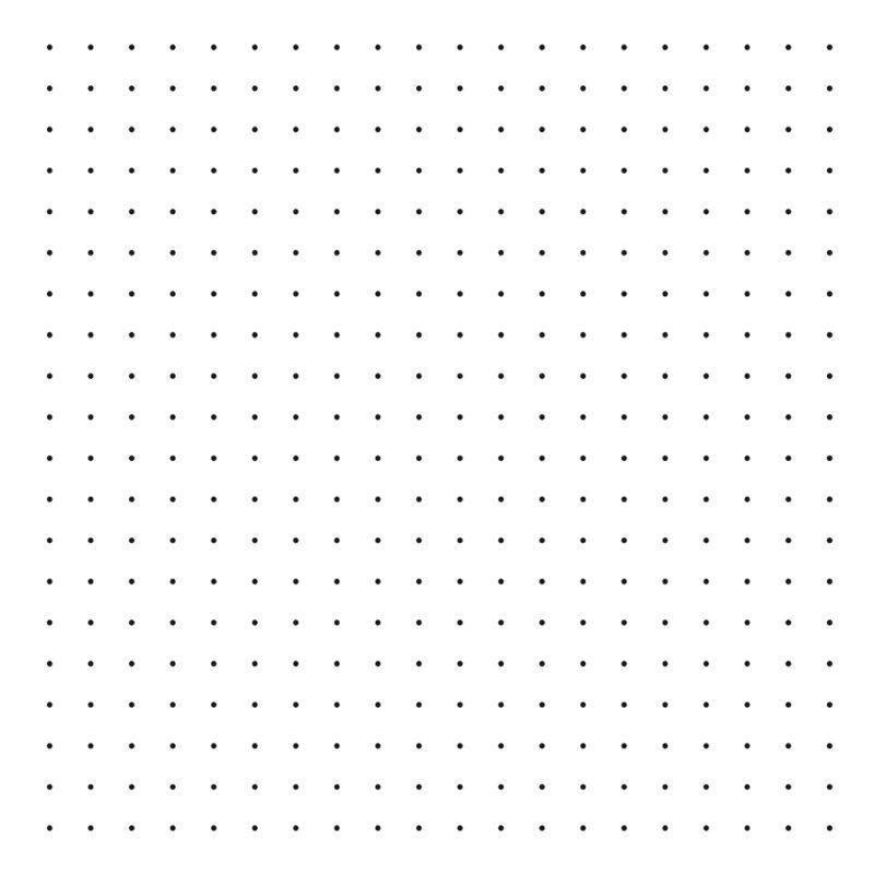 Polka Dots Black On Background White Behang   Millimétré   Lilipinso