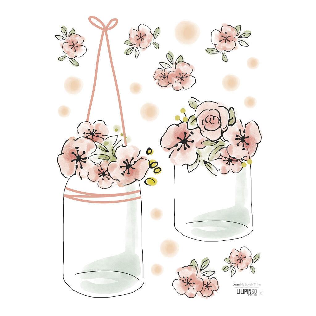Pots & Flowers Sticker 18X24Cm   Rosae   Lilipinso