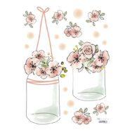 Pots & Flowers Sticker 18X24Cm | Rosae | Lilipinso