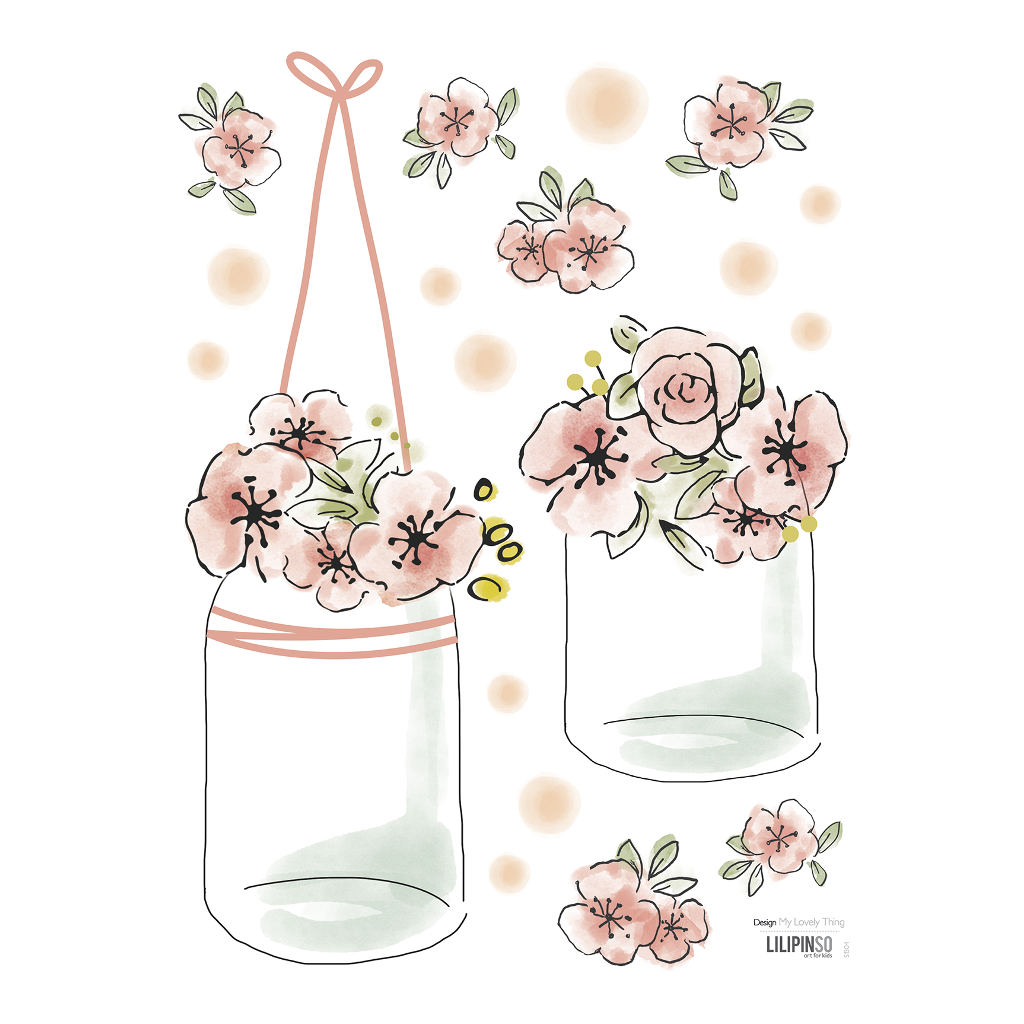 Pots & Flowers Sticker 18X24Cm | Rosae | Lilipinso