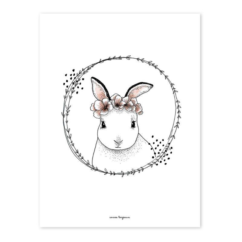 Rabbit Poster Meadow Treasure Lilipinso Lili-P0219