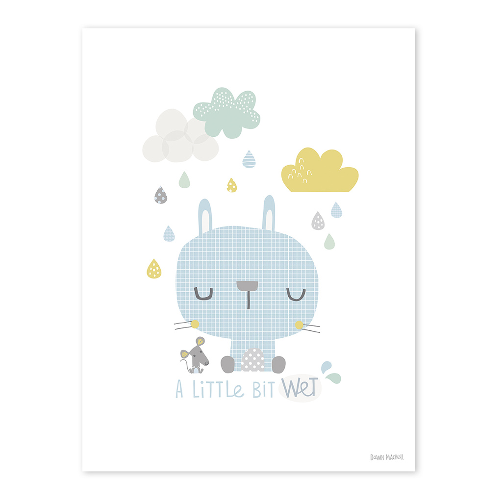 Rabbit Poster Smile, It'S Raining Lilipinso Lili-P0191 1024X1024