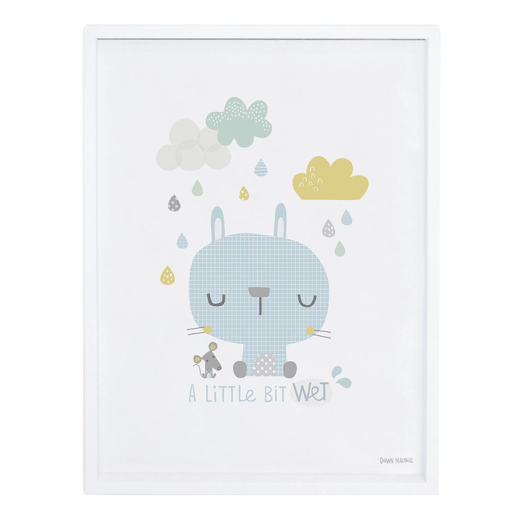 Rabbit Poster Smile, It'S Raining Lilipinso Met Lijst Lili-P0191 1024X1024