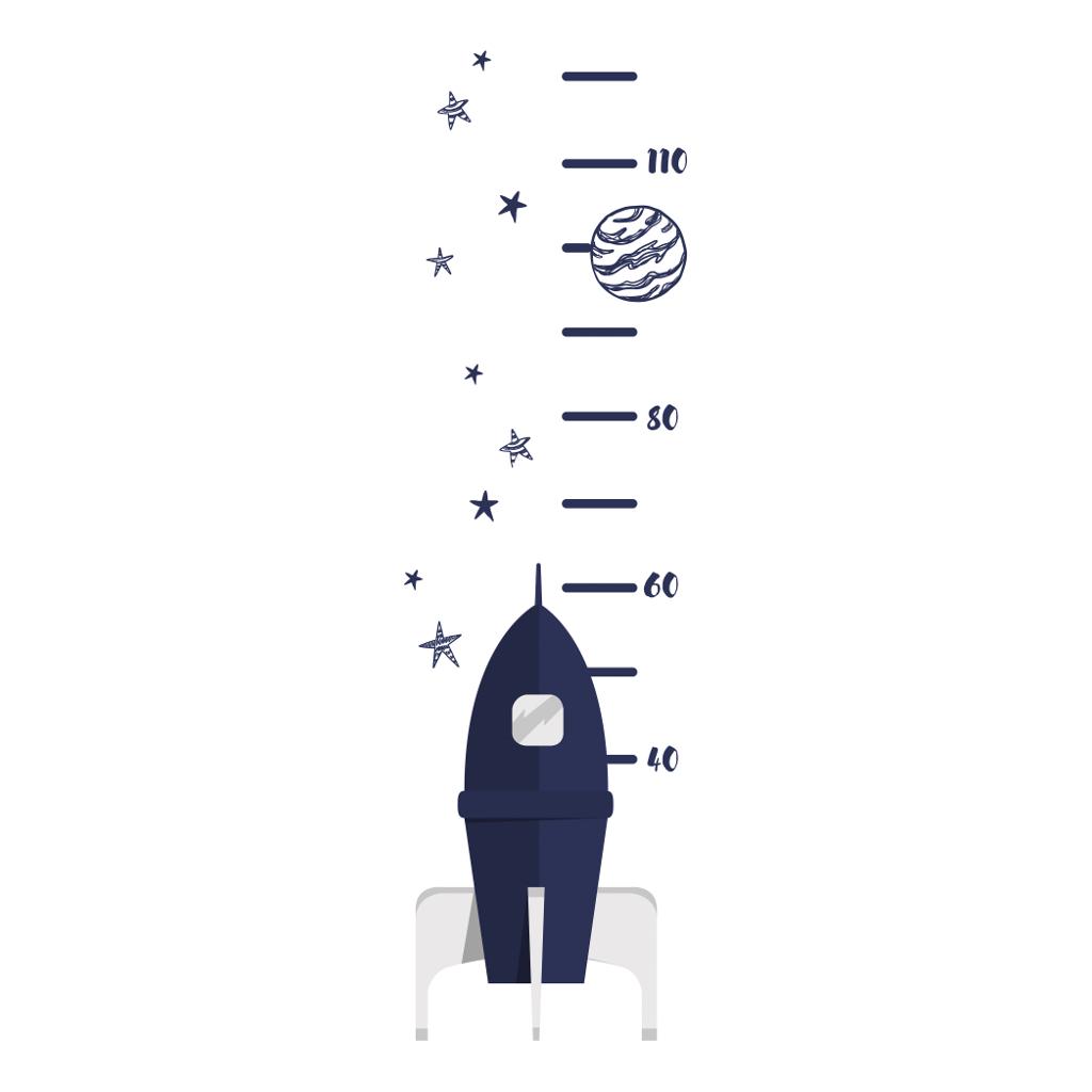 Rocket Groeimeter Sticker Fly Me To The Moon Lilipinso Raket Heelal Lili-S1194