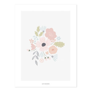 Rounded Bouquet Poster | Bloom | Lilipinso