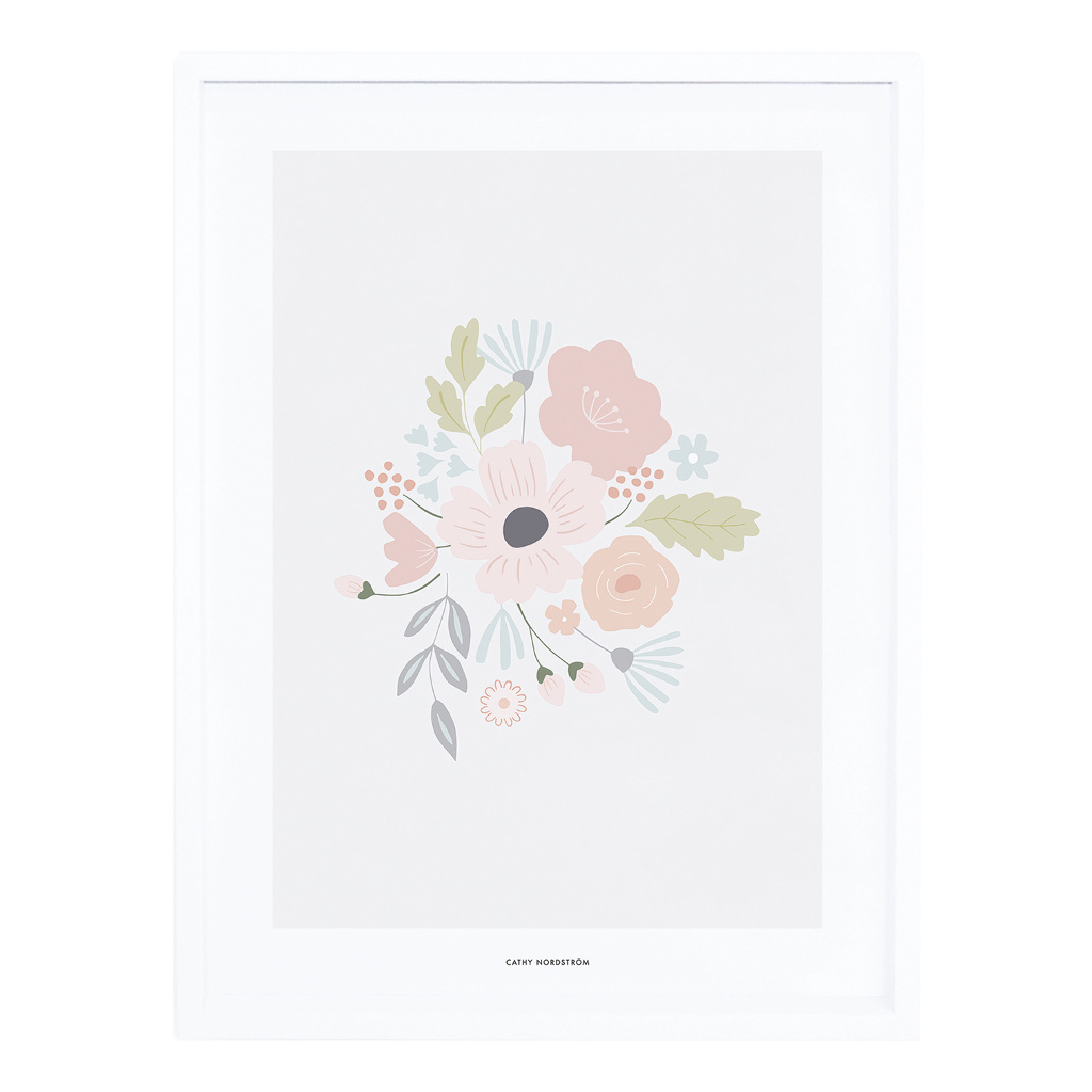 Rounded Bouquet Poster Met Lijst Bloom Lilipinso lili-p0258