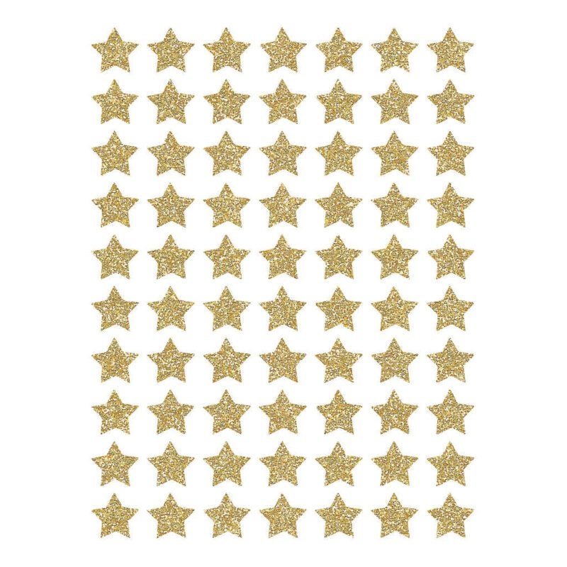 Small Stars Dorees Material Glitter Sticker 18X24Cm | Hello Little | Lilipinso
