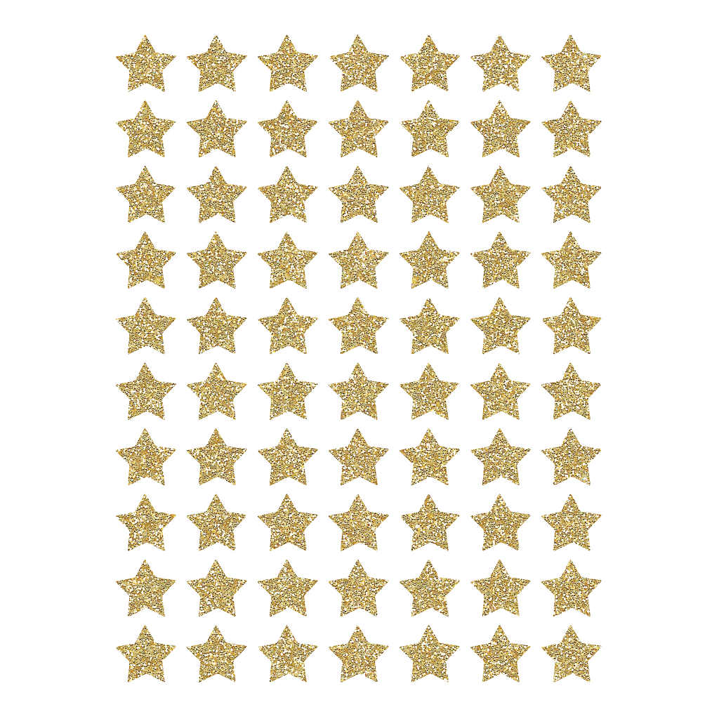 Small Stars Dorees Material Glitter Sticker 18X24Cm | Hello Little | Lilipinso