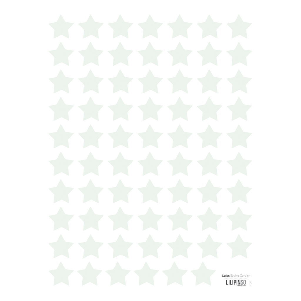 Small Stars Green Sticker 18X24Cm | Hello Little | Lilipinso