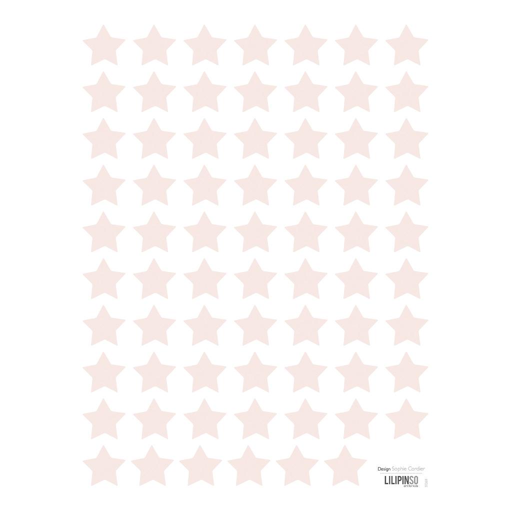 Small Stars Pink Sticker 18X24Cm | Hello Little | Lilipinso