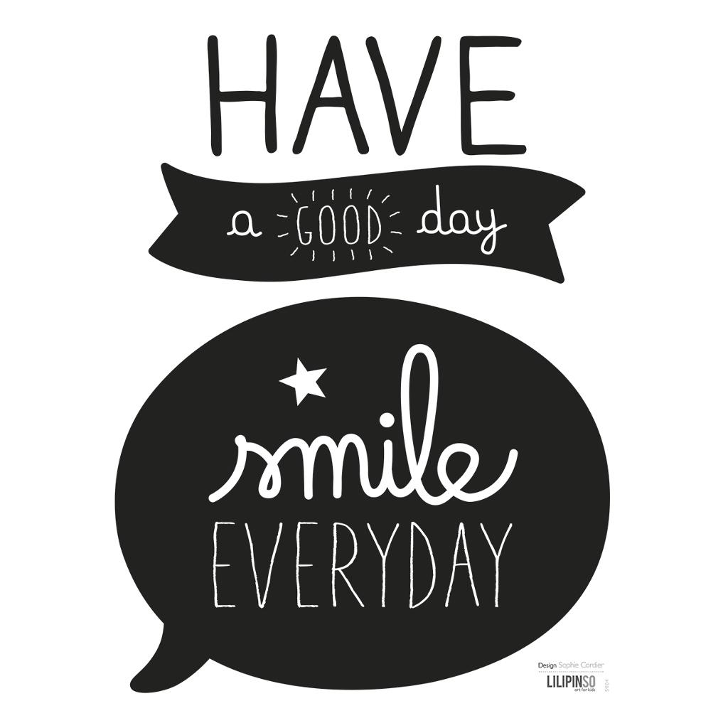 Smile Sticker 18X24Cm Inspiring Words Lilipinso Lach Elke Dag Spreuk Sticker Lili-S1104
