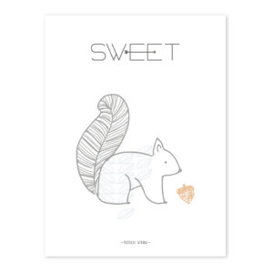 Squirrel Sweet Poster Nordic Lilipinso Lili-P0208 1024X1024