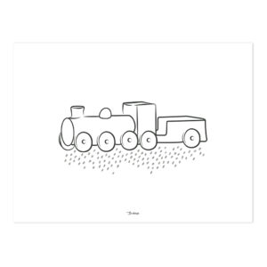 Steam Engine Poster | Wild West | Lilipinso