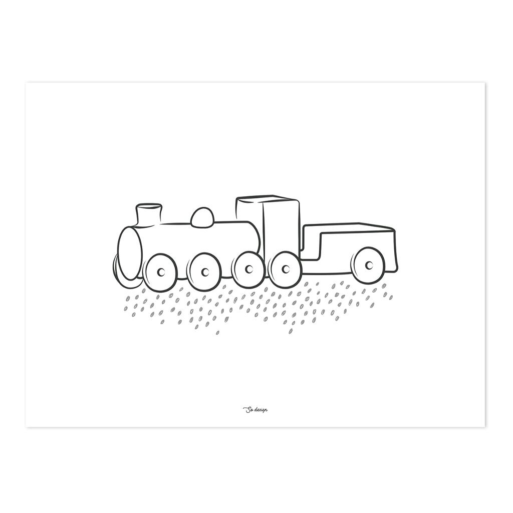 Steam Engine Poster | Wild West | Lilipinso