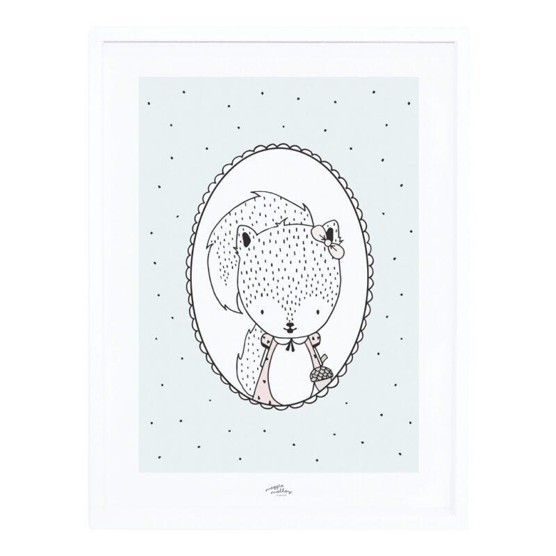 Susy The Squirrel Poster Met Lijst Retro Bubble Lilipinso lili-p0250