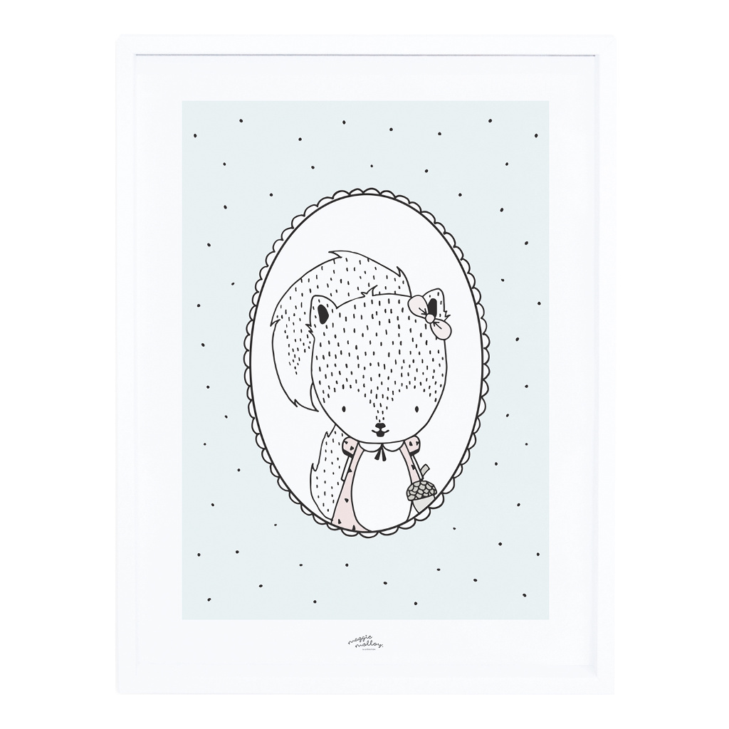 Susy The Squirrel Poster Met Lijst Retro Bubble Lilipinso lili-p0250