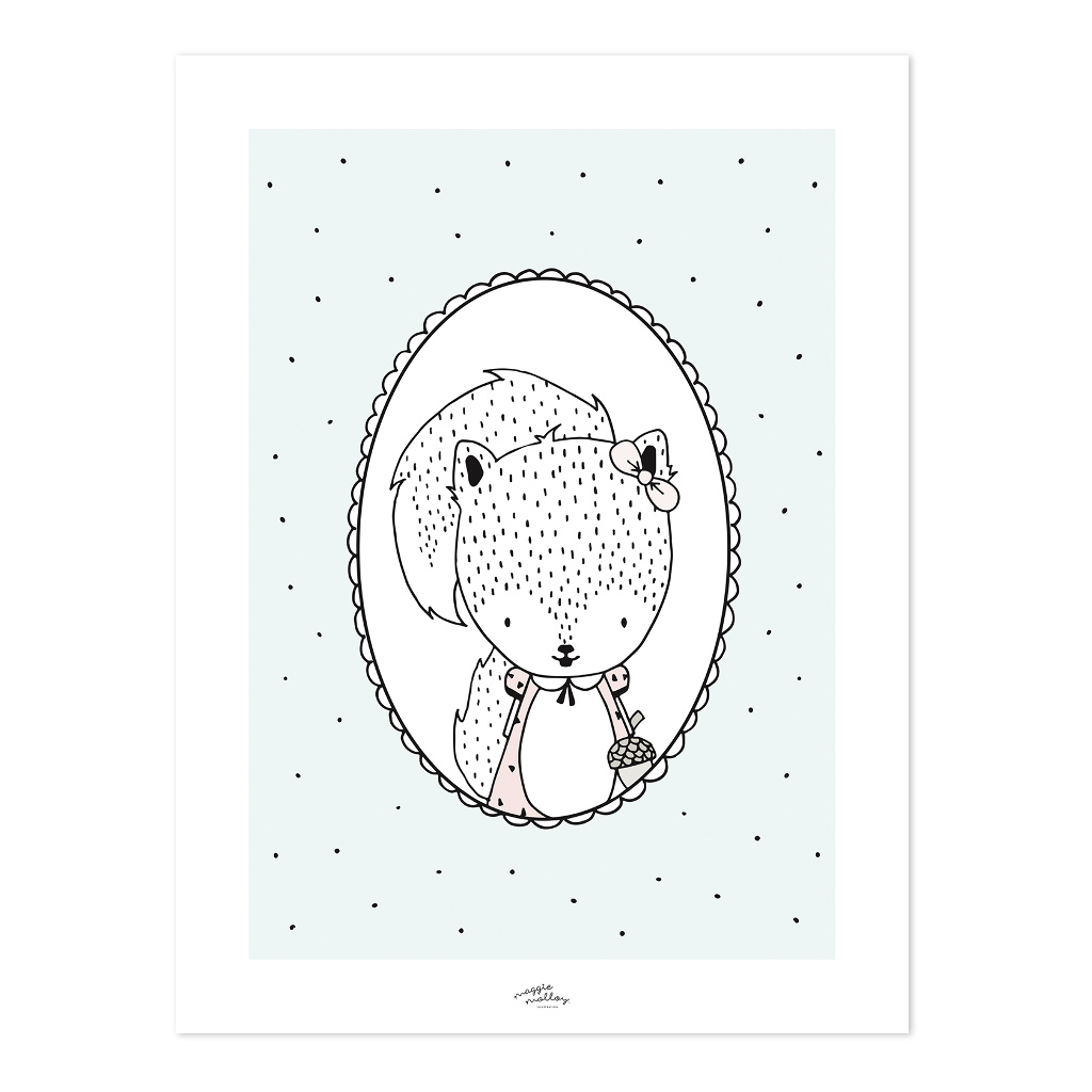 Susy The Squirrel Poster | Retro Bubble | Lilipinso