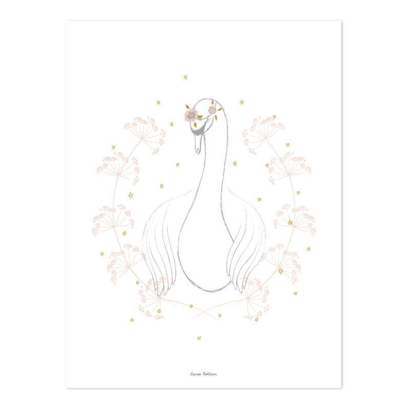 Swan Poster   Botany   Lilipinso
