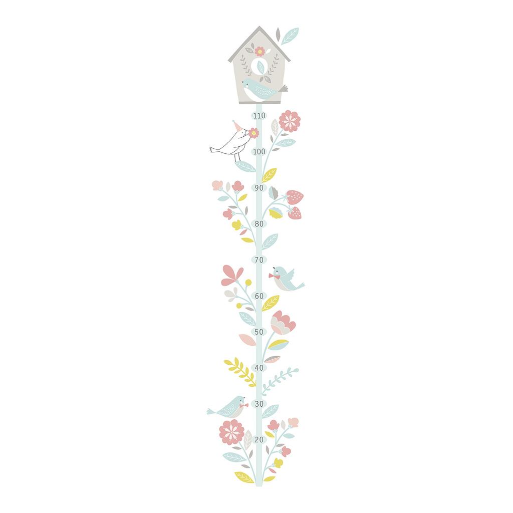 Sweet Birds Groeimeter Sticker Lilipinso Tak Vogels Huisje Lili-S1025
