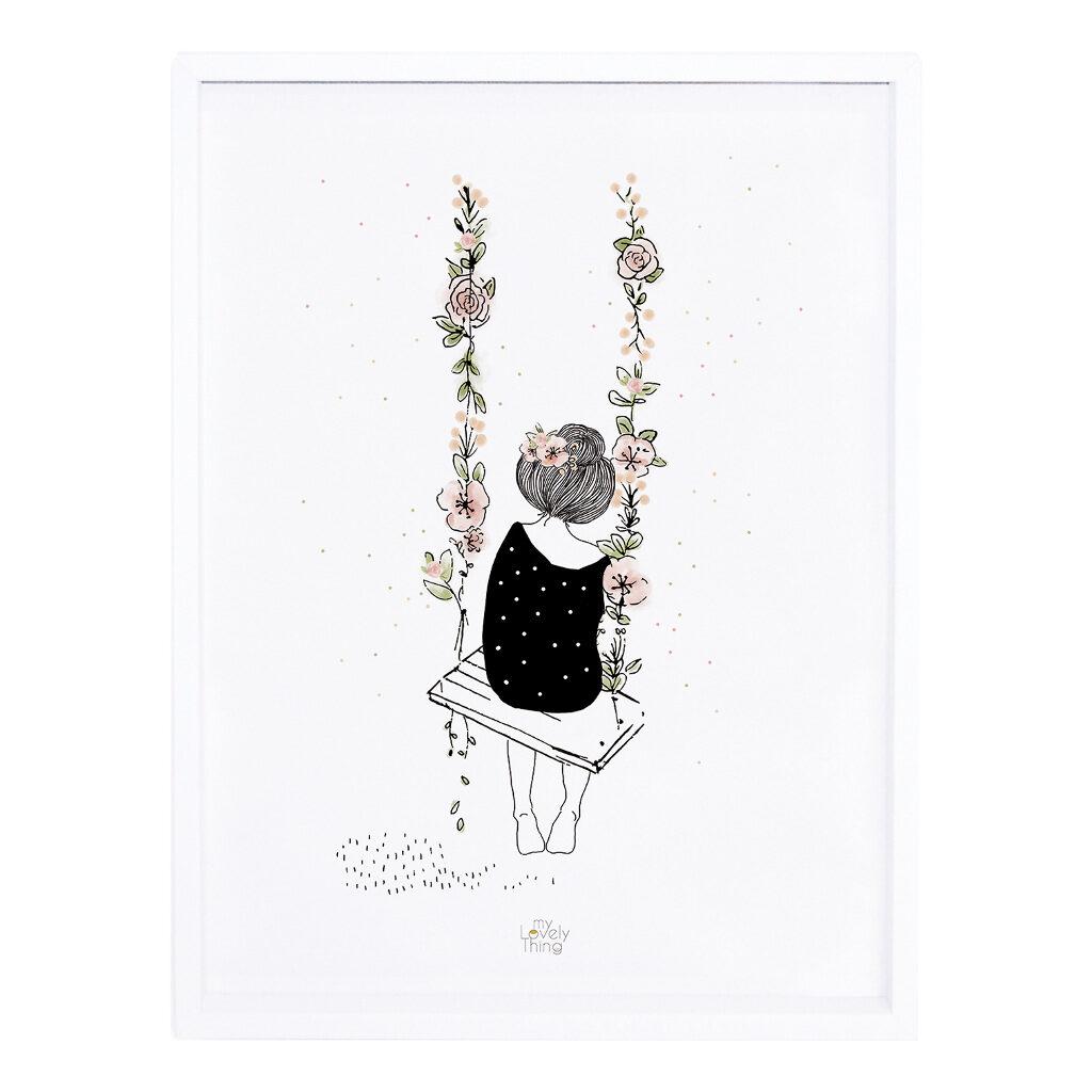 Swing Poster Rosae Lilipinso Met Lijst Lili-p0217c