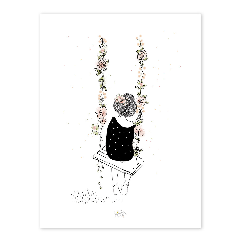 Swing Poster Rosae Lilipinso Zonder Lijst Lili-p0217