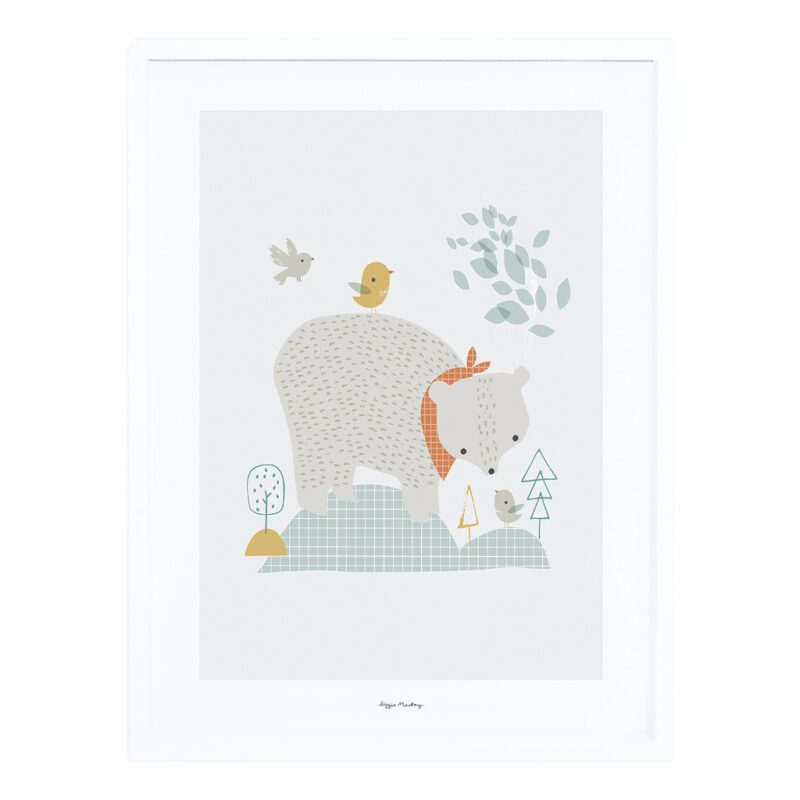 The Big Bear Poster Met Lijst Woodland Lilipinso lili-p0272