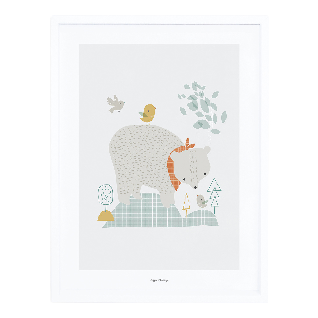 The Big Bear Poster Met Lijst Woodland Lilipinso lili-p0272