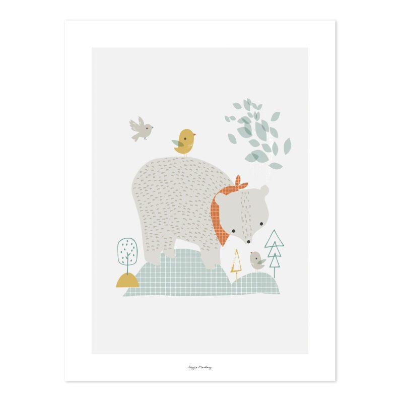 The Big Bear Poster | Woodland | Lilipinso