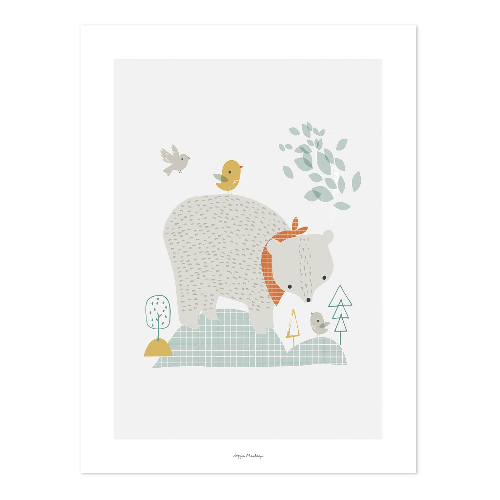 The Big Bear Poster | Woodland | Lilipinso
