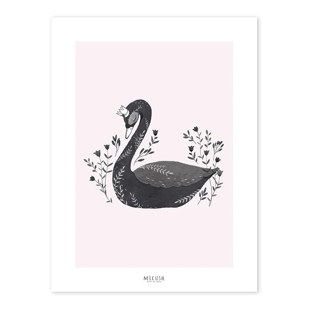 The Black Swan Poster Little Princess Lilipinso Lijst Schilderij QIDDIE.com lili-P0212c lili-p0212-zl