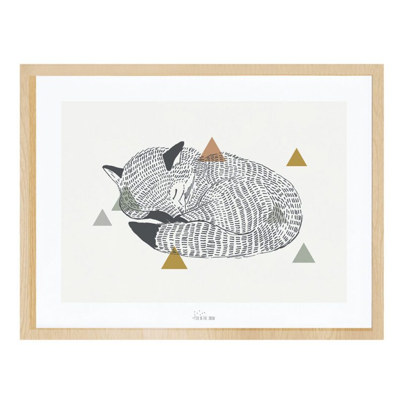 The Fox Poster Met Lijst Enchanted Lilipinso lili-p0260