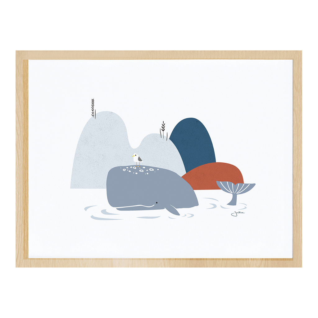 The Whale Poster Met Lijst Wild Islands Lilipinso lili-p0262