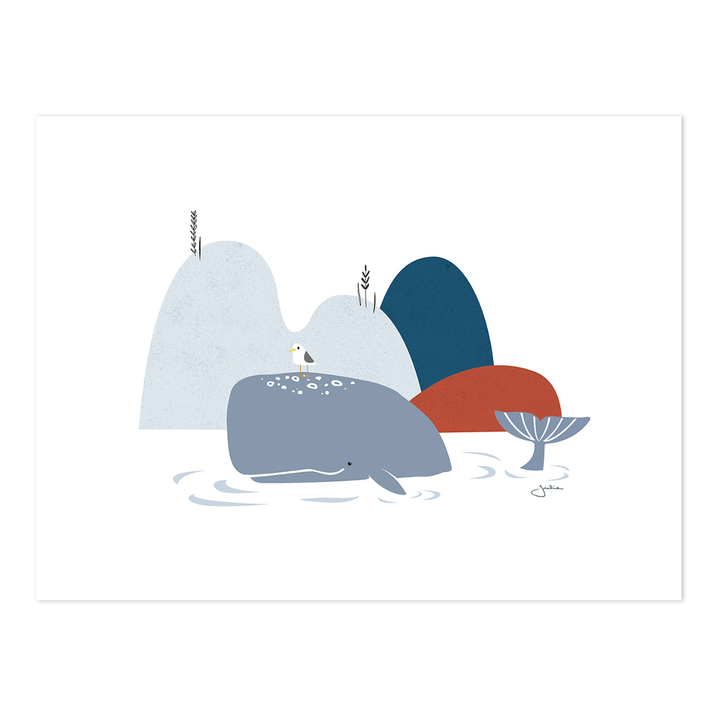 The Whale Poster | Wild Islands | Lilipinso